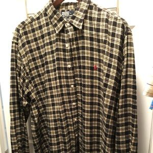 Polo flannel button up